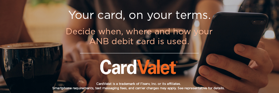 Your card, on your terms. CardValet.