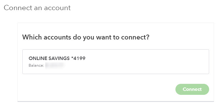 select accounts to connect
